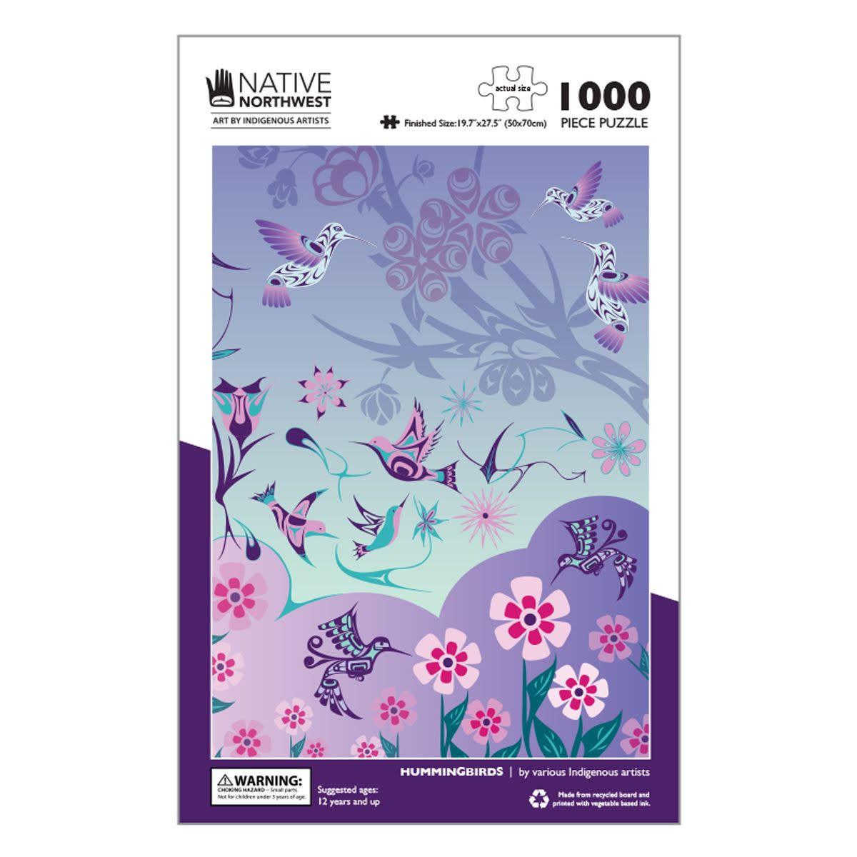 1000 pcs Puzzle - Hummingbirds - Various Artists-1