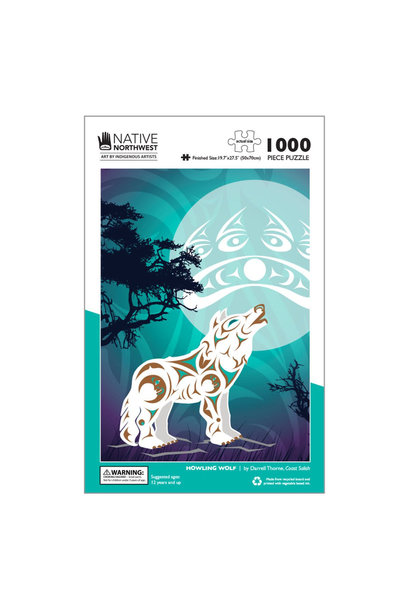 1000 pcs Puzzle - Howling Wolf by Darrell Thorne