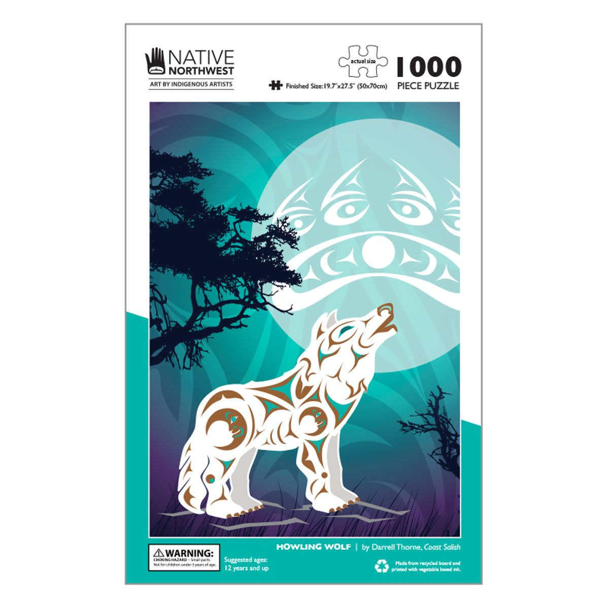 1000 pcs Puzzle - Howling Wolf by Darrell Thorne-1