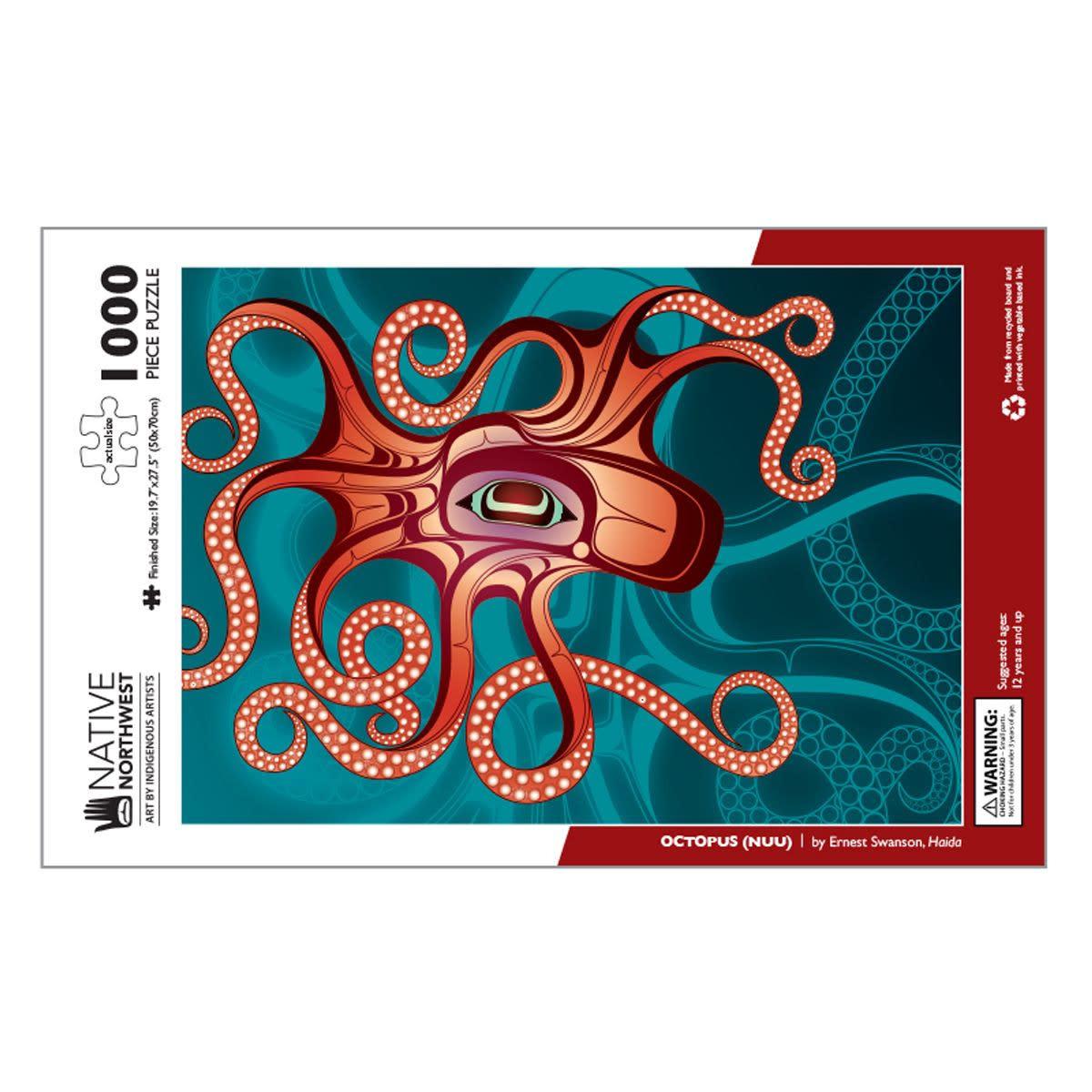 1000 pcs Puzzle- Octopus (Nuu) by Earnest Swanson-2