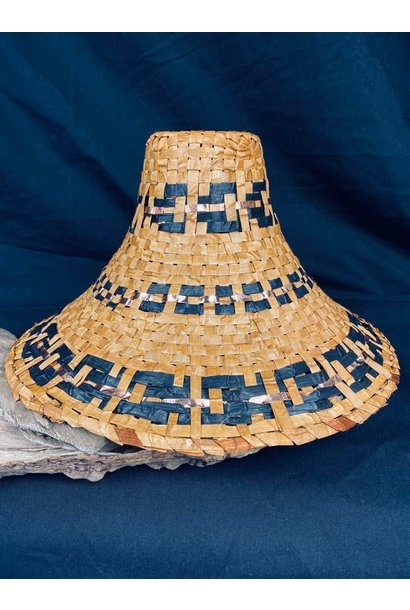 Traditional Cedar woven hat with Copper - by C. Chapman