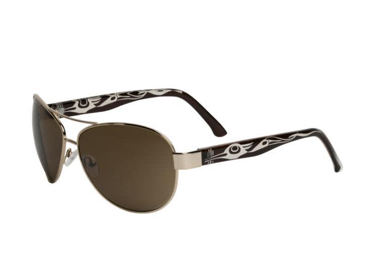 Cameron Sunglasses Heron Design (Gun Metal) Corrine Hunt-1