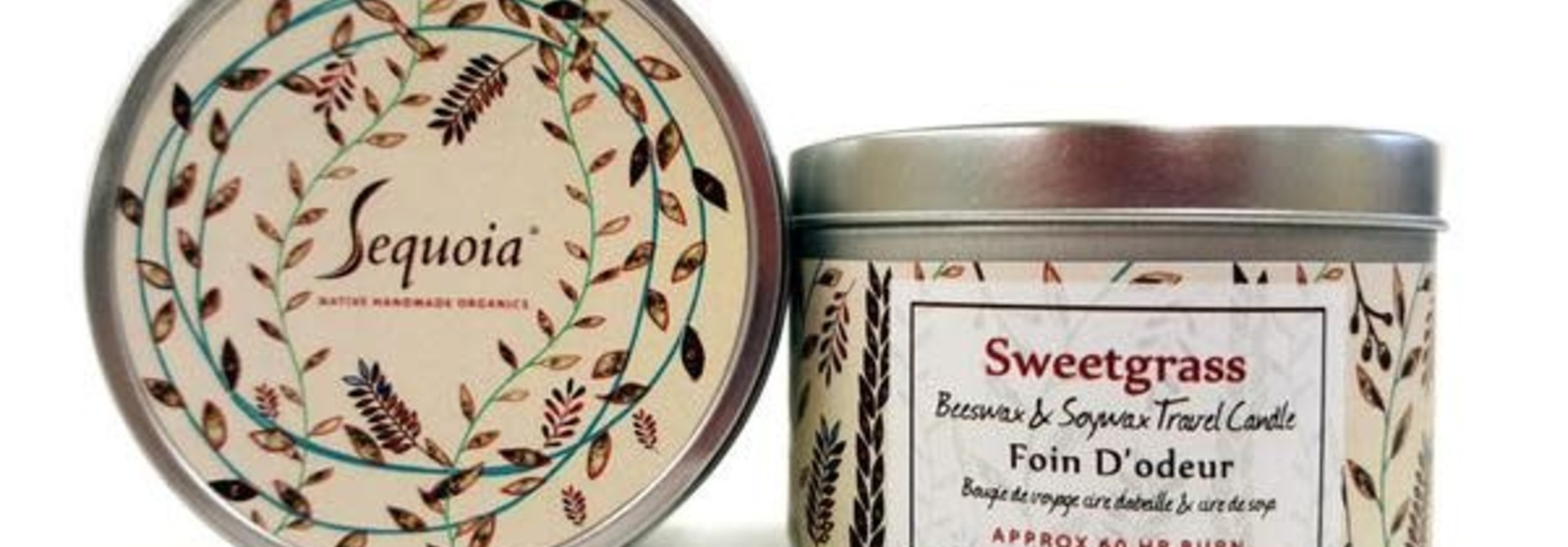 Sequoia 15hr candle- Sweetgrass