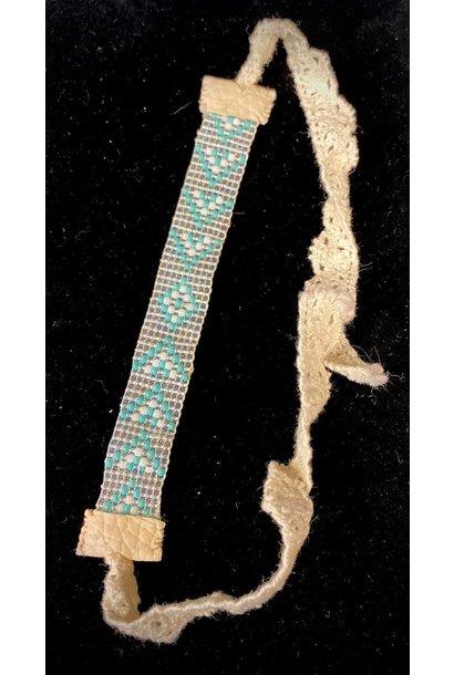 Beaded Loom Bracelet -Turquoise by Shawnee Renee