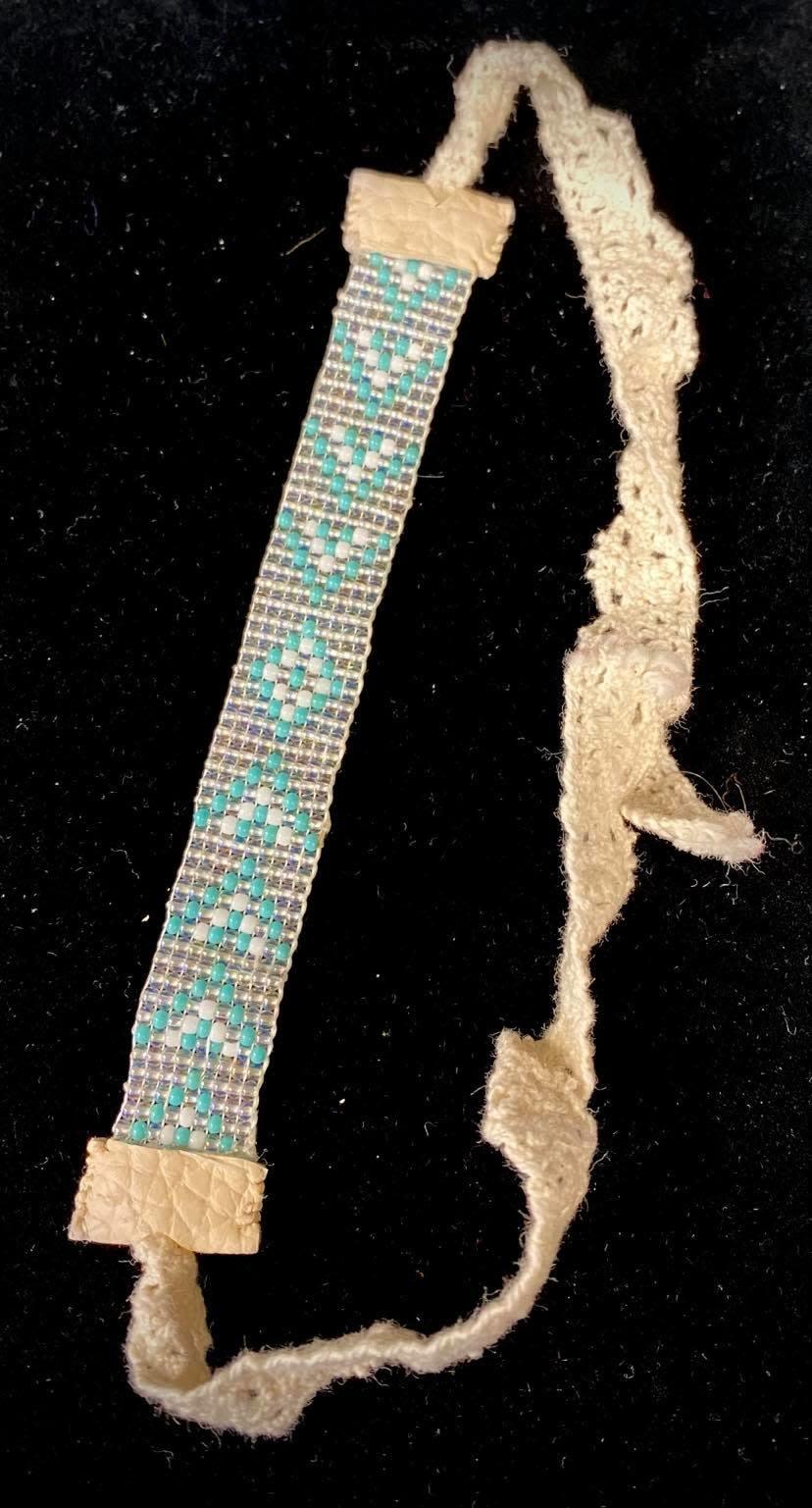 Beaded Loom Bracelet -Turquoise by Shawnee Renee-1