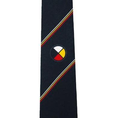 Medicine Wheel Silk Tie-1