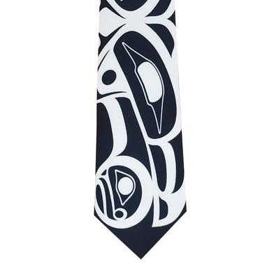 Raven Silk Tie-Roy Henry Vickers-1