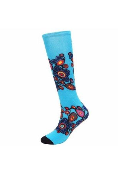 Flowers and Birds Art Socks-Norval Morrisseau