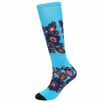 Flowers and Birds Art Socks-Norval Morrisseau-1