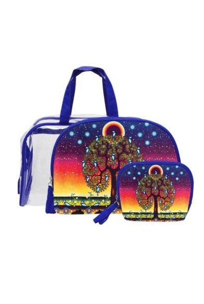 Tree of Life Cosmetic Bag Set