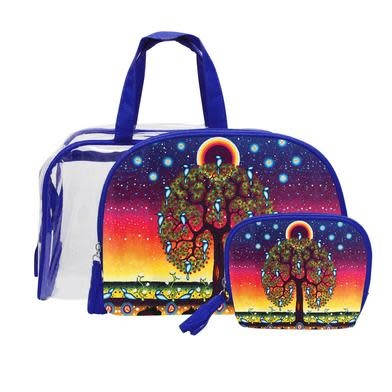 Tree of Life Cosmetic Bag Set-1