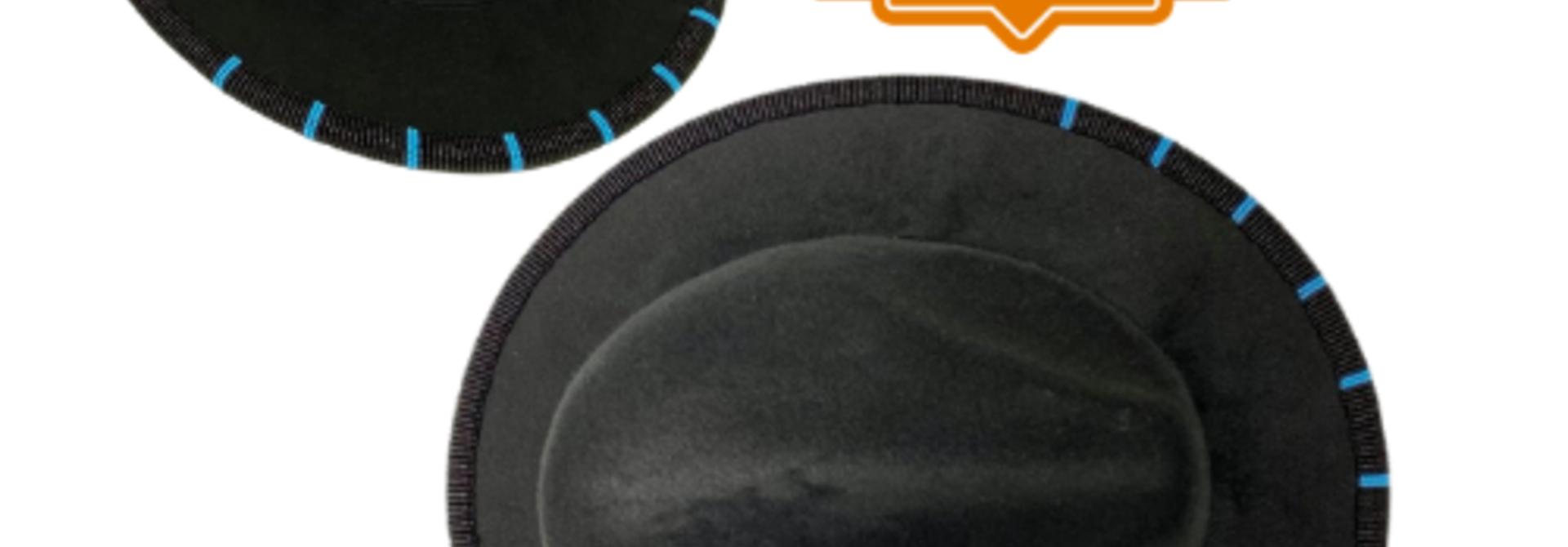 Shawnee Renee Beaded Fedora - Black & Turquoise