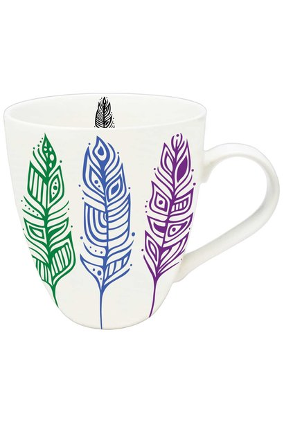 Pride Feathers - Art Mug by Patrick Hunter