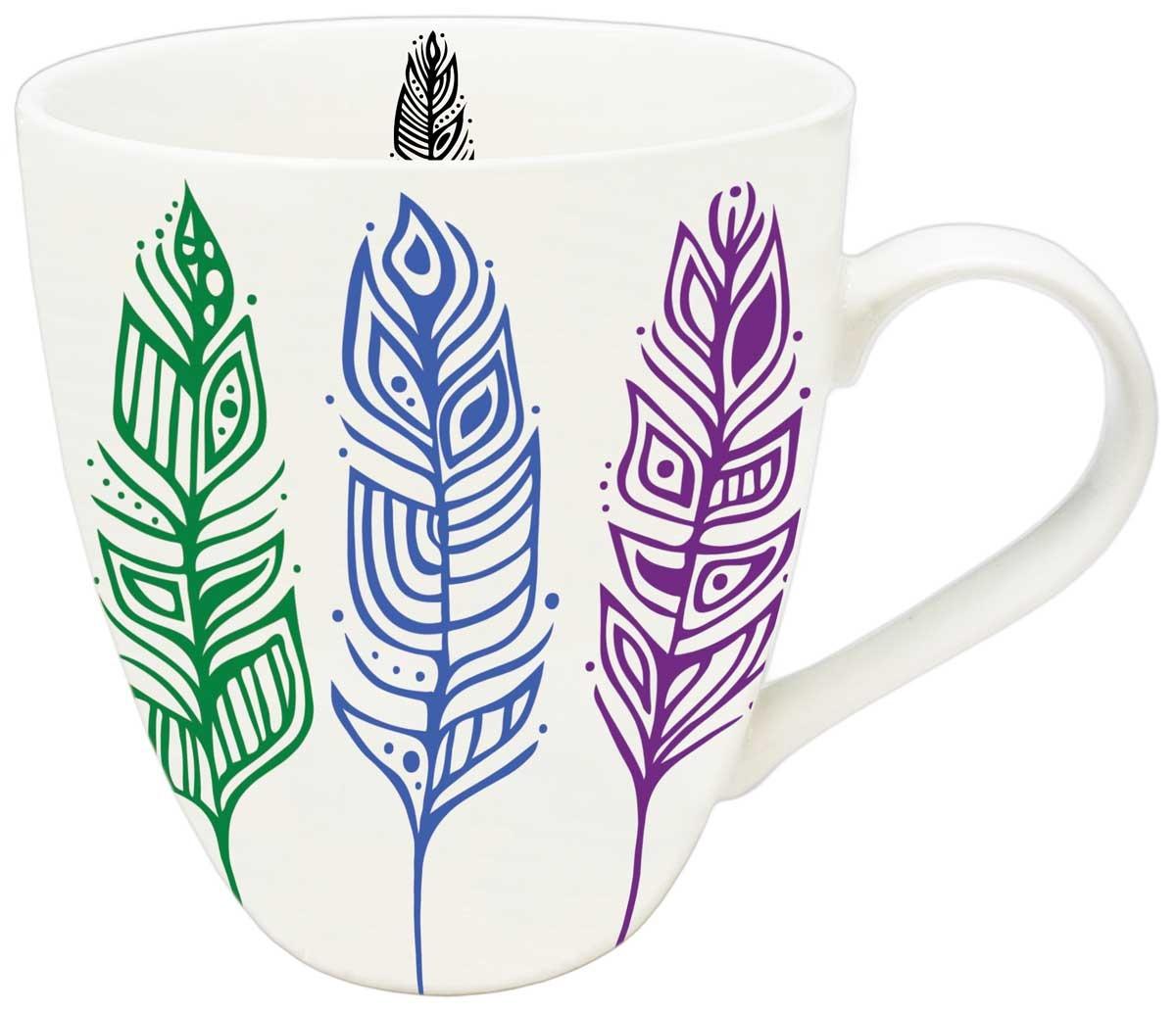 Pride Feathers - Art Mug by Patrick Hunter-1