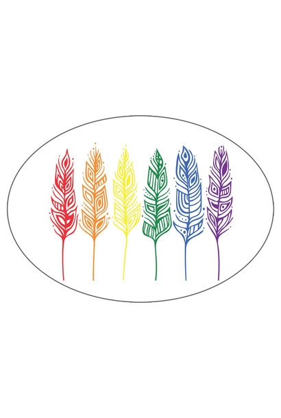 Pride Feathers - Sticker by Patrick Hunter