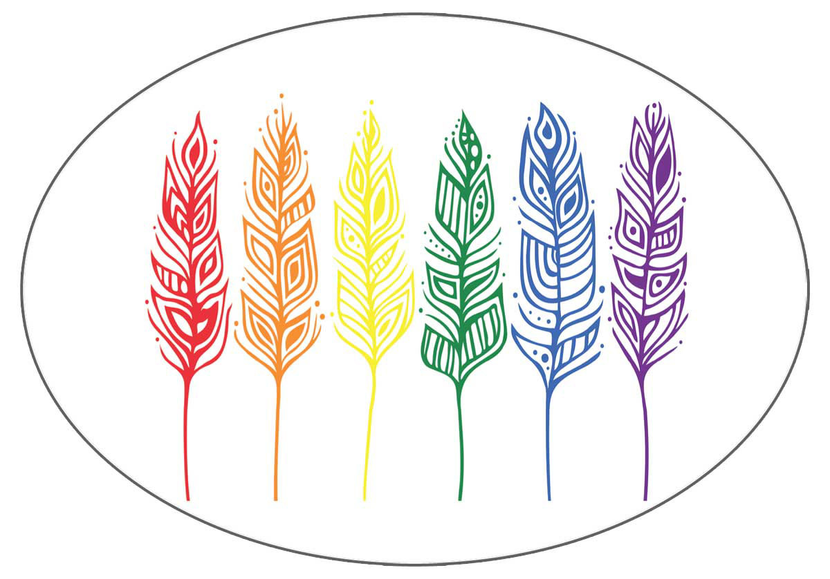 Pride Feathers - Sticker by Patrick Hunter-1