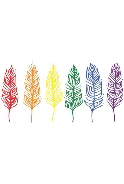 Pride Feathers - Art Card by Patrick Hunter