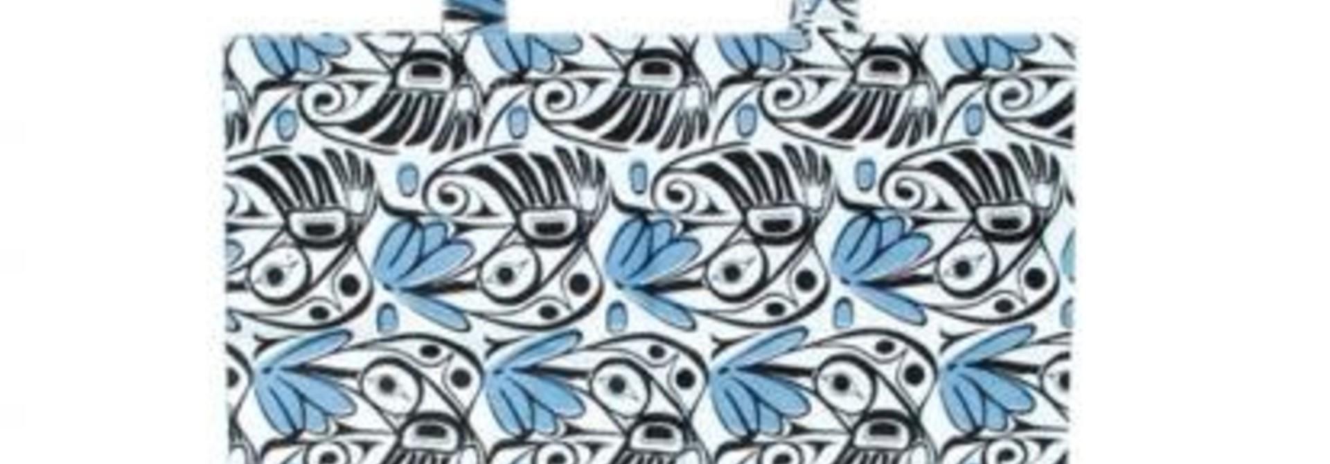 Cotton Shopping Bag -Hummingbird by Bill Helin