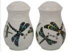 Ceramic Salt & Pepper Shakers-Dragonfly by Simone Diamond-1