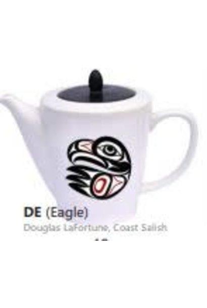 Ceramic Tea Pot -Eagle by Doug LaFortune