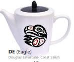 Ceramic Tea Pot -Eagle by Doug LaFortune-1
