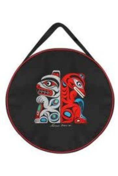 """17"""" Embroidered Drum Bag - Bear & Wolf by Francis Horne St."""