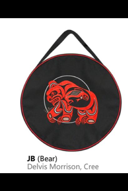 "15"" Embroidered Drum Bag-Bear by Delvis Morrison"