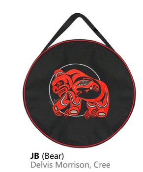 "15"" Embroidered Drum Bag-Bear by Delvis Morrison-1"