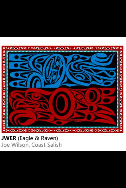 Velvet Plush Blanket- Eagle Raven Joe Wilson