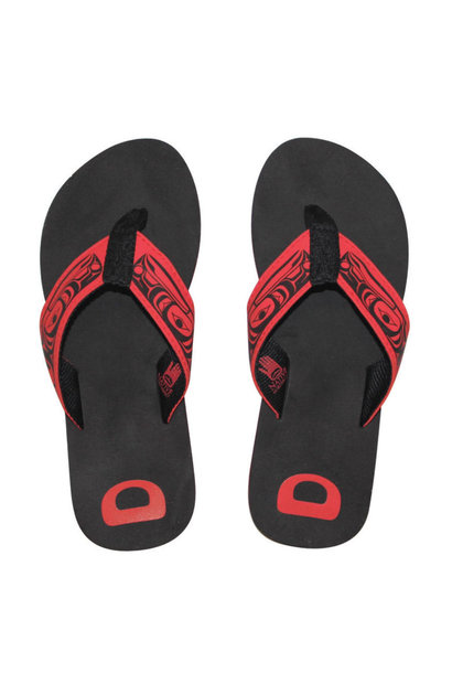Suede Flip Flops - Raven by Terry Star