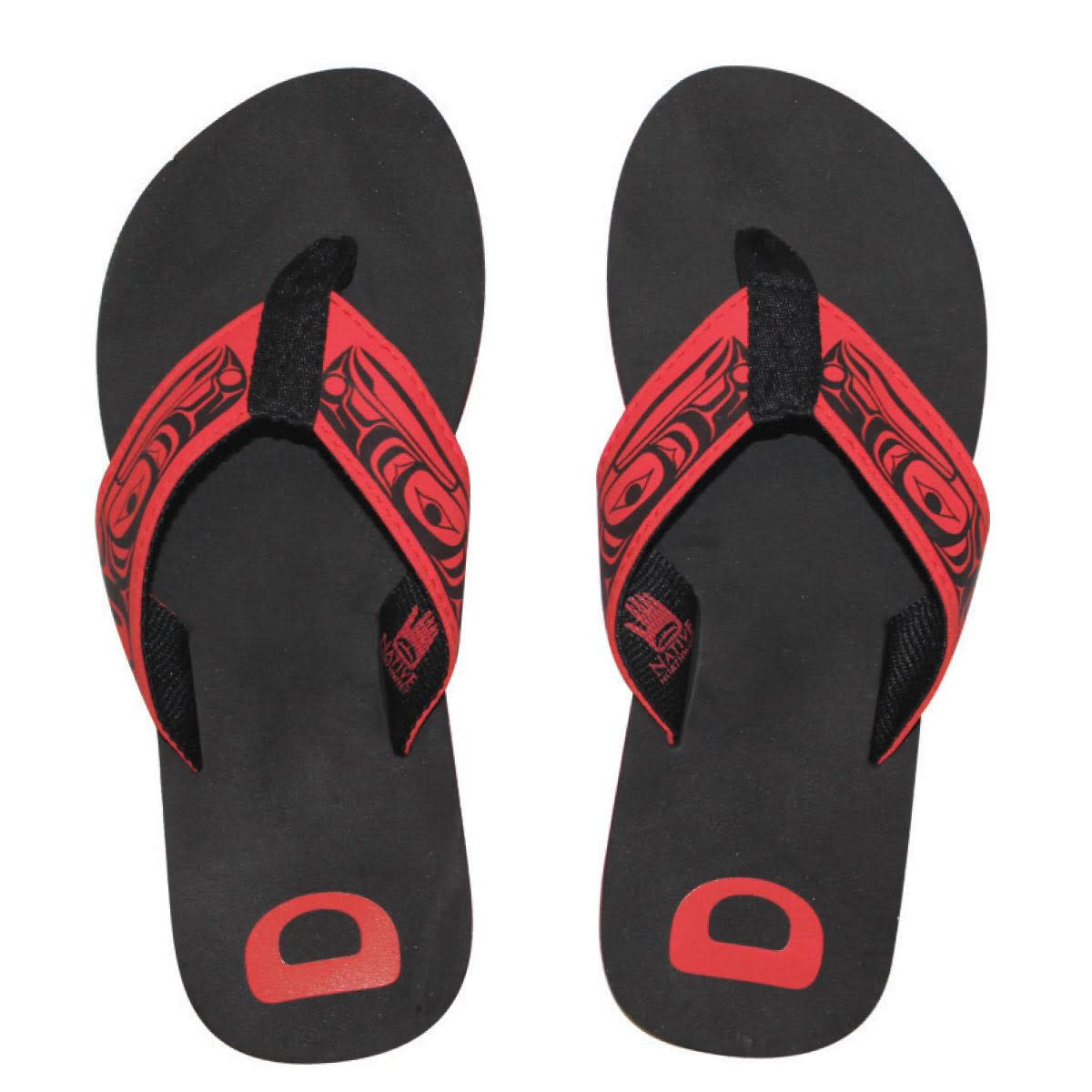 Suede Flip Flops - Raven by Terry Star-1