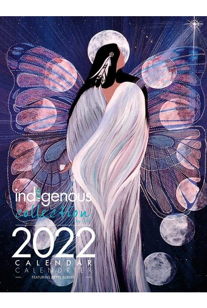 2022 Calendar -  Moon Phases Art by Betty Albert