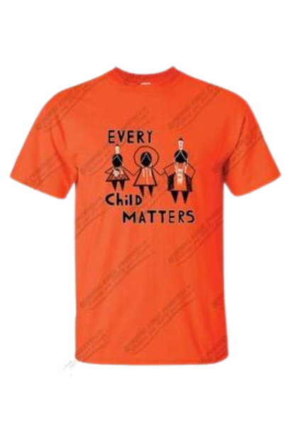 "2021 Orange Shirt ""Every Child Matters"" by Artist Shayne Hommy"