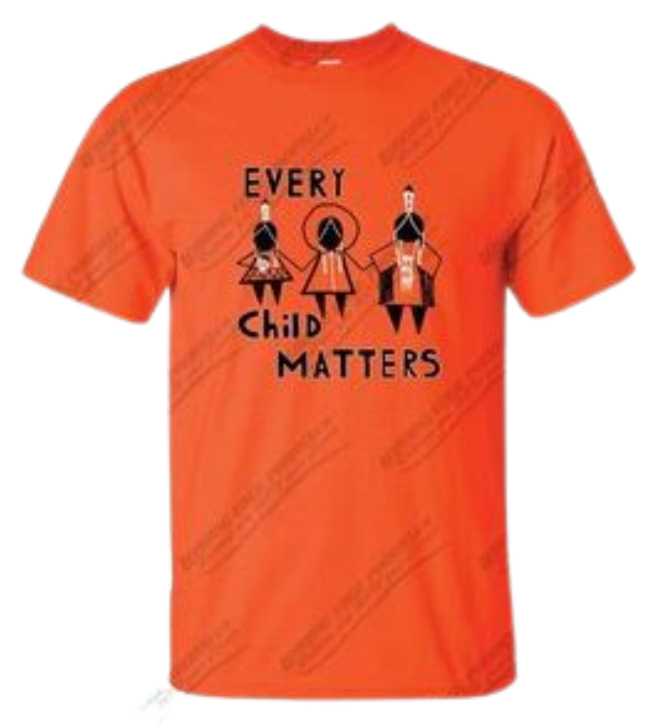 "2021 Orange Shirt ""Every Child Matters"" by Artist Shayne Hommy-1"
