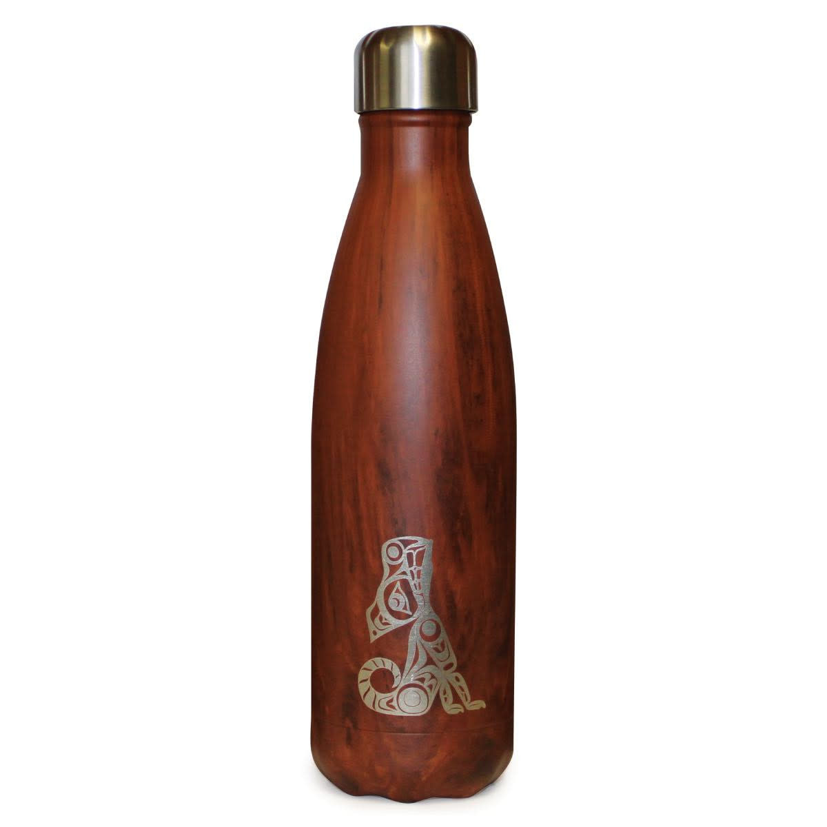 17oz Insulated Water Bottle- Wolf by T.J. Sgwaayaans Young-1