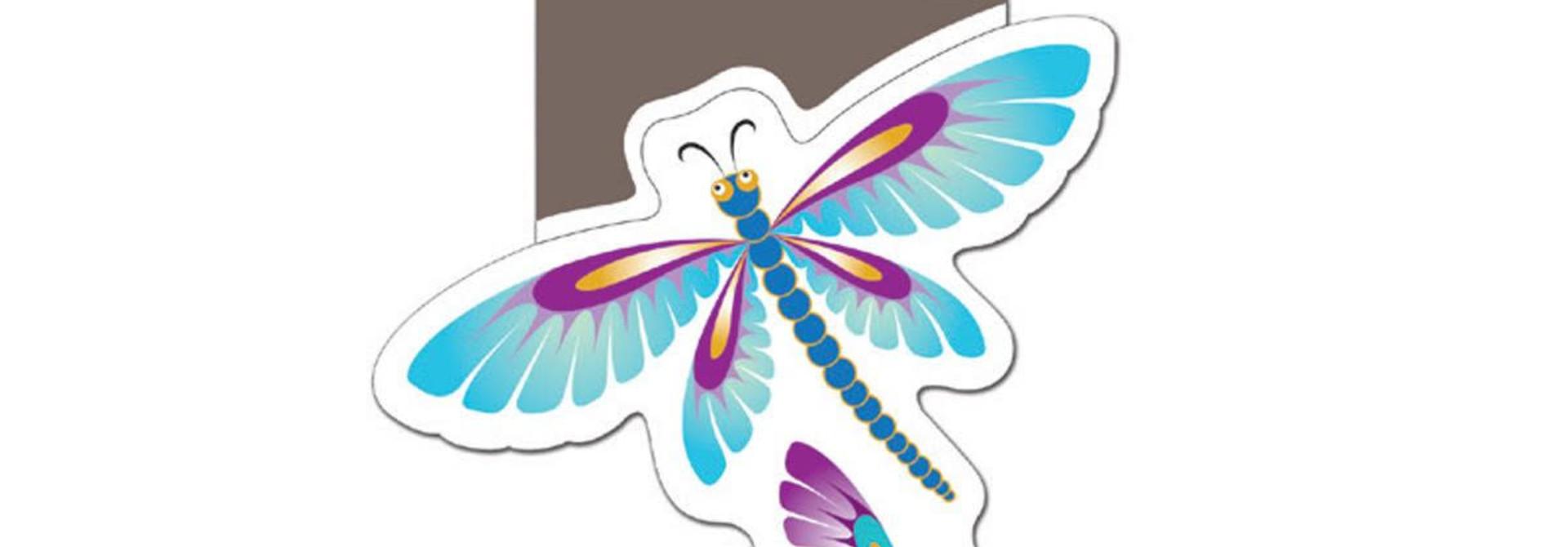 Sticker - Dragonflies by Simone Diamond