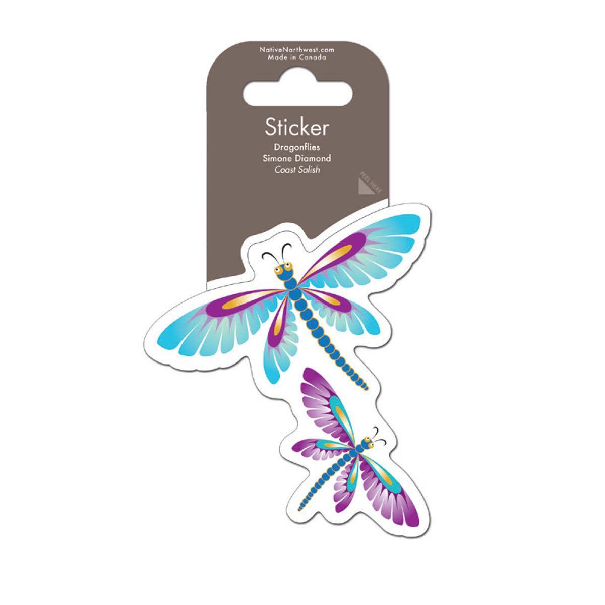 Sticker - Dragonflies by Simone Diamond-2