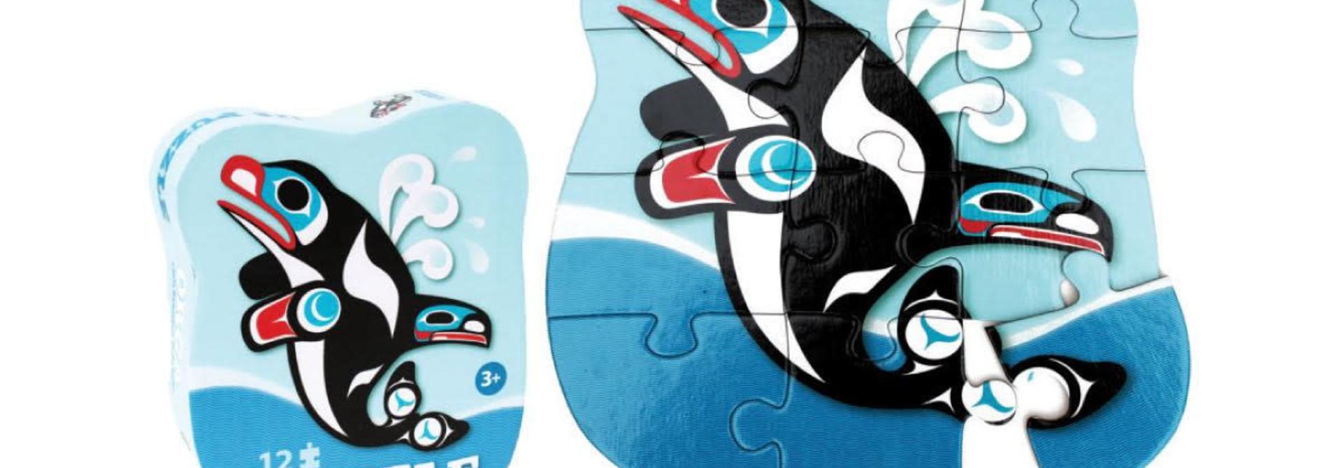 12 Piece Puzzle-Orca by Chris Kewistep