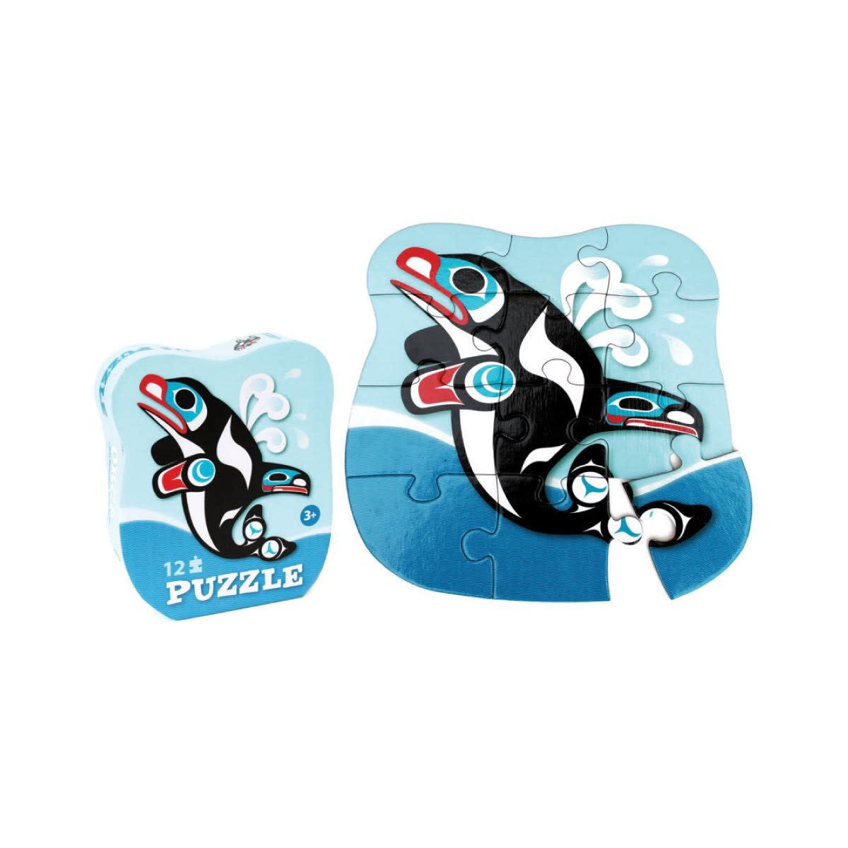 12 Piece Puzzle-Orca by Chris Kewistep-1