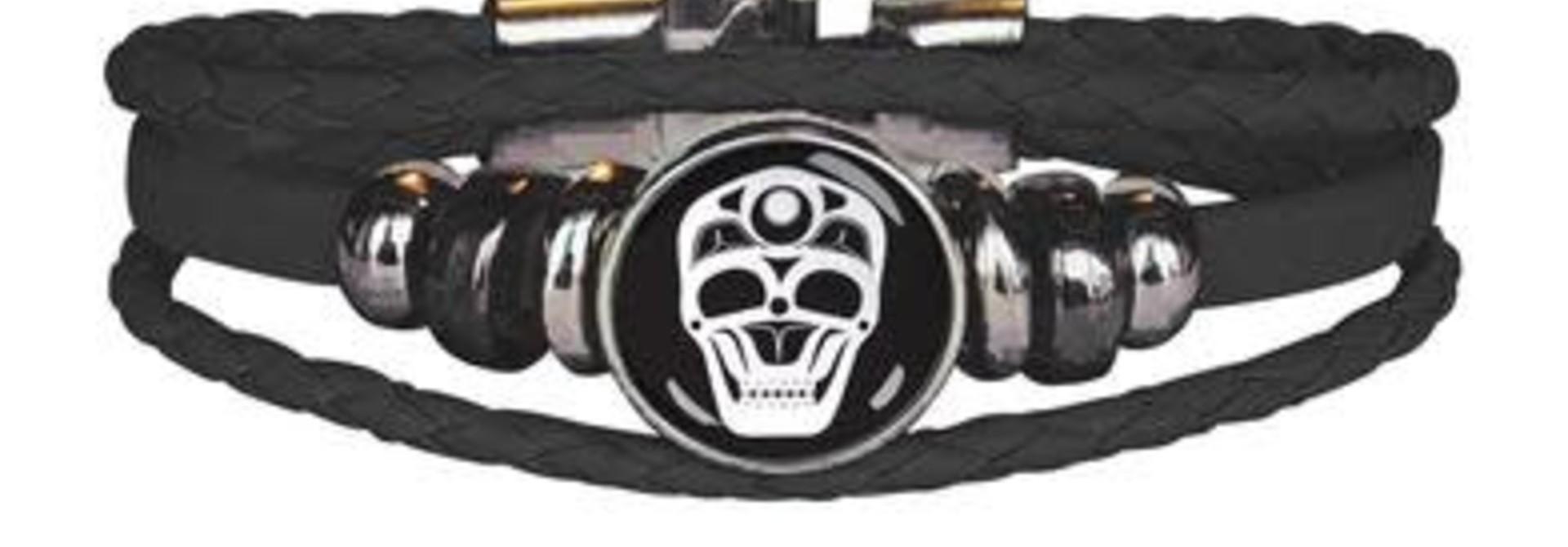 Leatherette Bracelet -Skull by James Johnson
