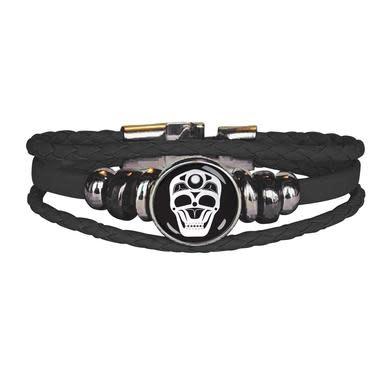 Leatherette Bracelet -Skull by James Johnson-2