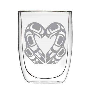 Double Wall Etched Glass - Eagle Heart-2