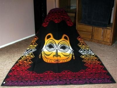 Vintage Pendleton Blanket - She Who Watches by Lillian Pitt-2
