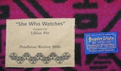 Vintage Pendleton Blanket - She Who Watches by Lillian Pitt-3
