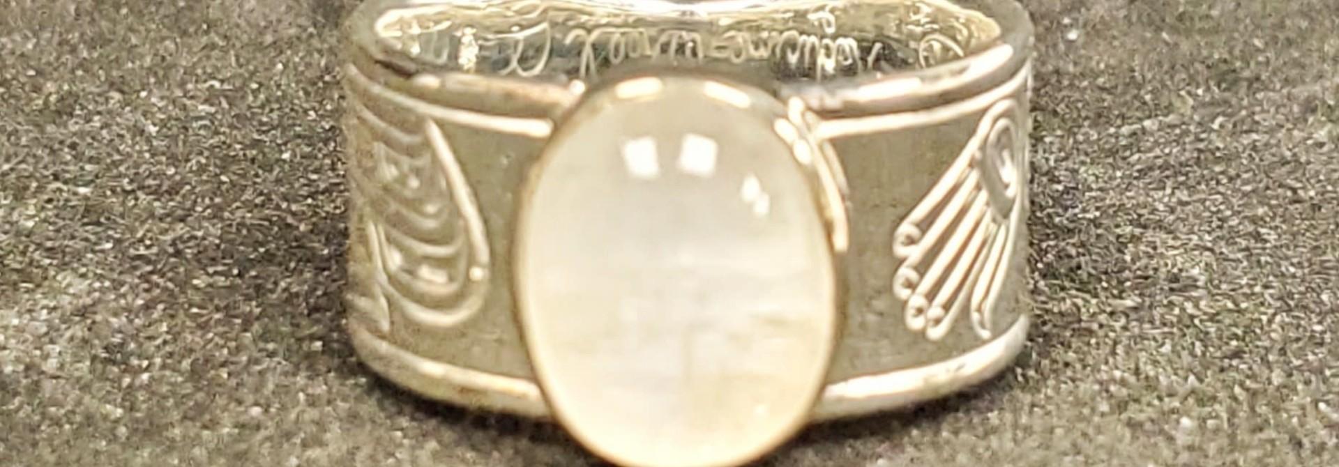 Medicine Wheel Gathering - Silver w Moonstone Inlay