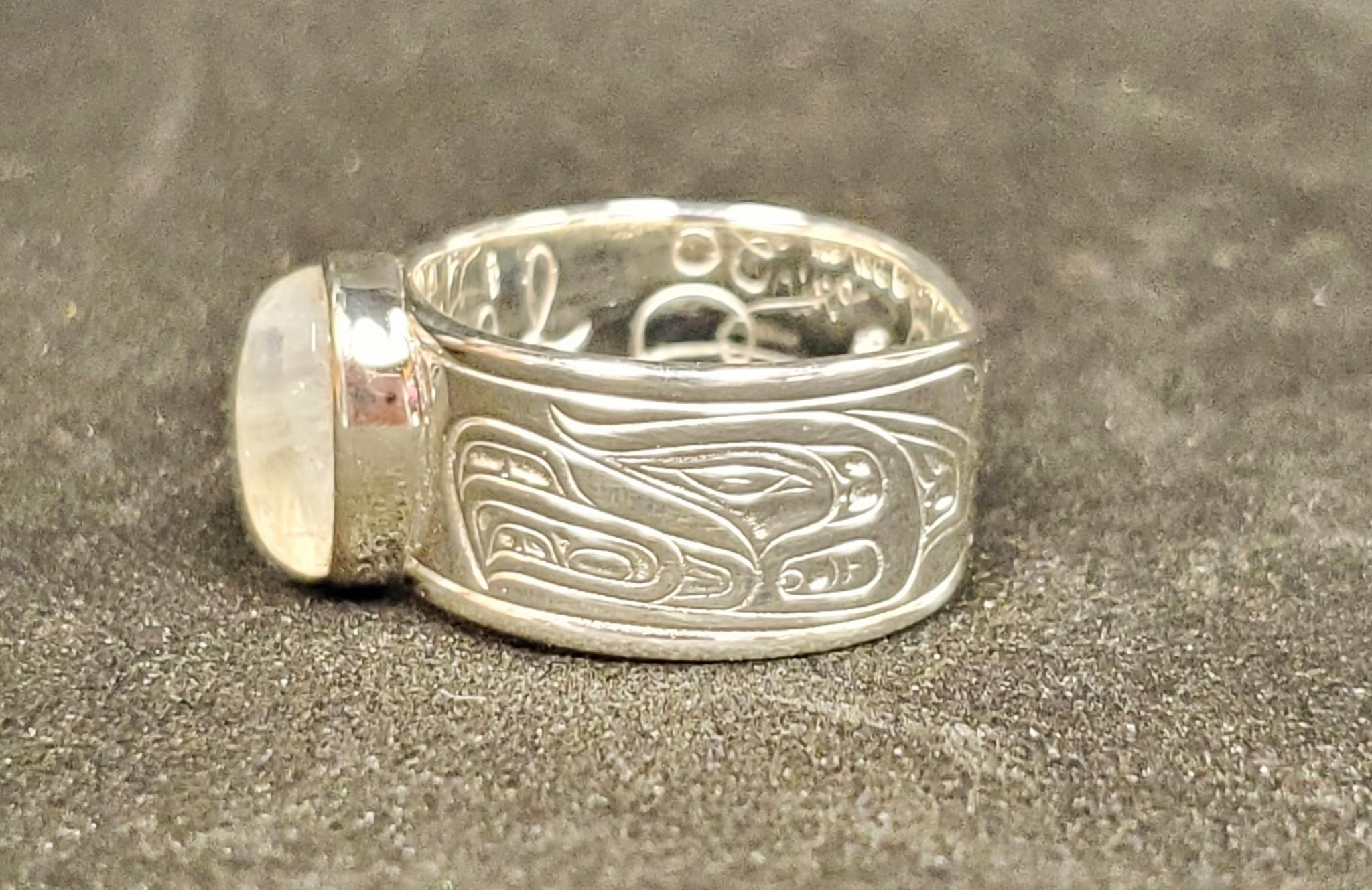 Medicine Wheel Gathering - Silver w Moonstone Inlay-2