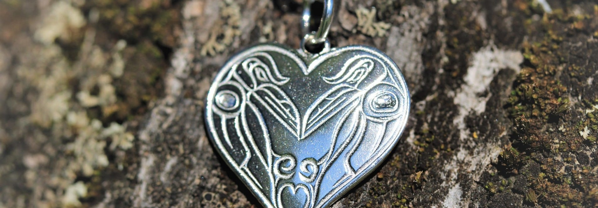 Connection For Life Raven Heart Silver Cast Pendant