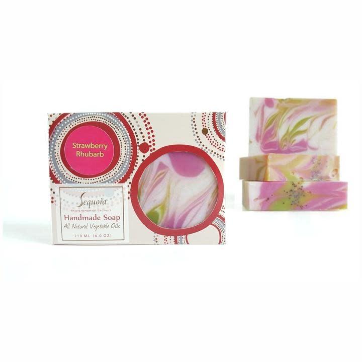 Sequoia 4 oz Soap - Strawberry Rhubarb-1
