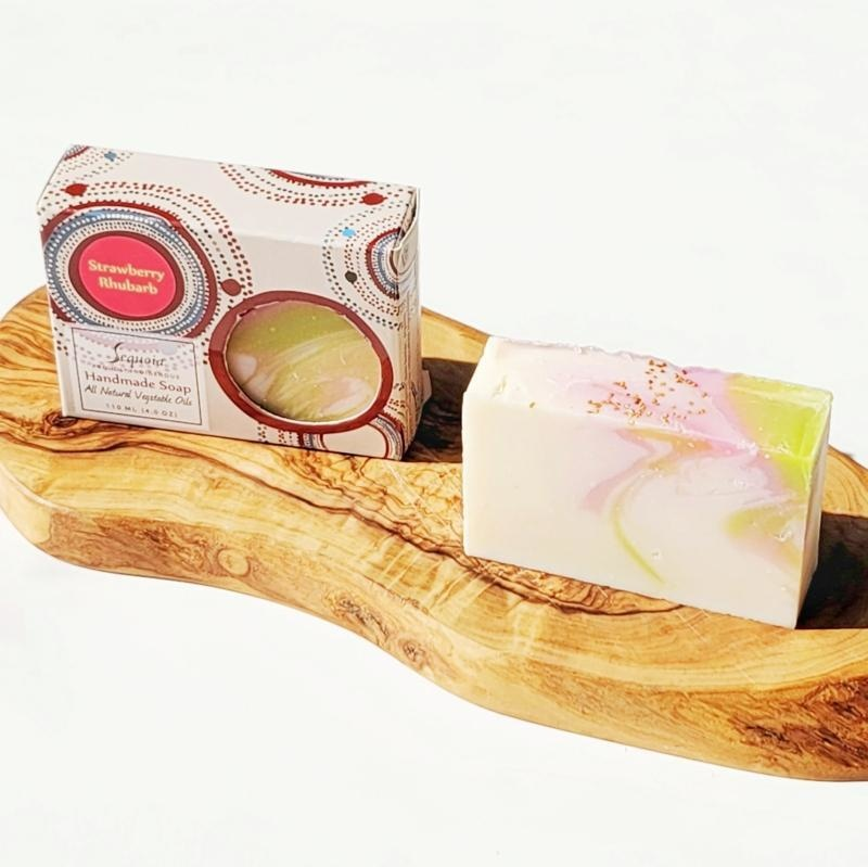 Sequoia 4 oz Soap - Strawberry Rhubarb-2