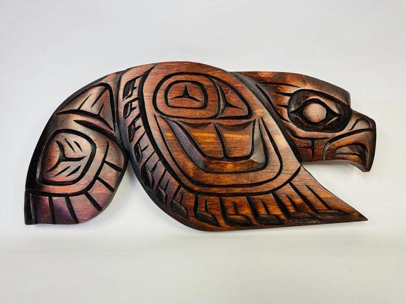 Hand Carved Eagle -Large-1